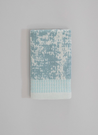 Basics By Chakra Rain El Havlusu 30*50 Beyaz-Yeşil - 30X50 Beyaz